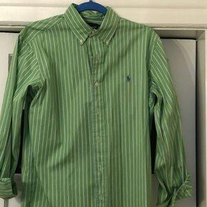 Ralph Lauren Classic Fit green striped shirt